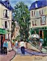 Quartier Montmarte ( Paris ) 35 x 27 Non dispo